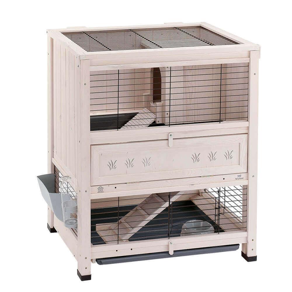 clapier d 39 int rieur en bois cottage pour rongeurs clapier lapin. Black Bedroom Furniture Sets. Home Design Ideas