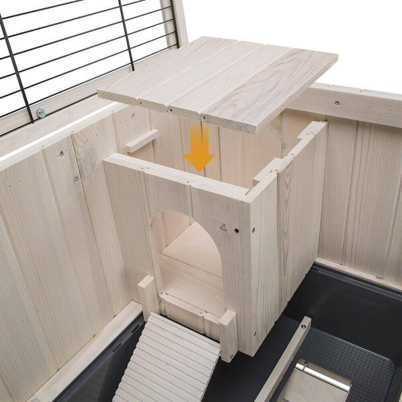 clapier d 39 int rieur en bois cottage pour rongeurs. Black Bedroom Furniture Sets. Home Design Ideas