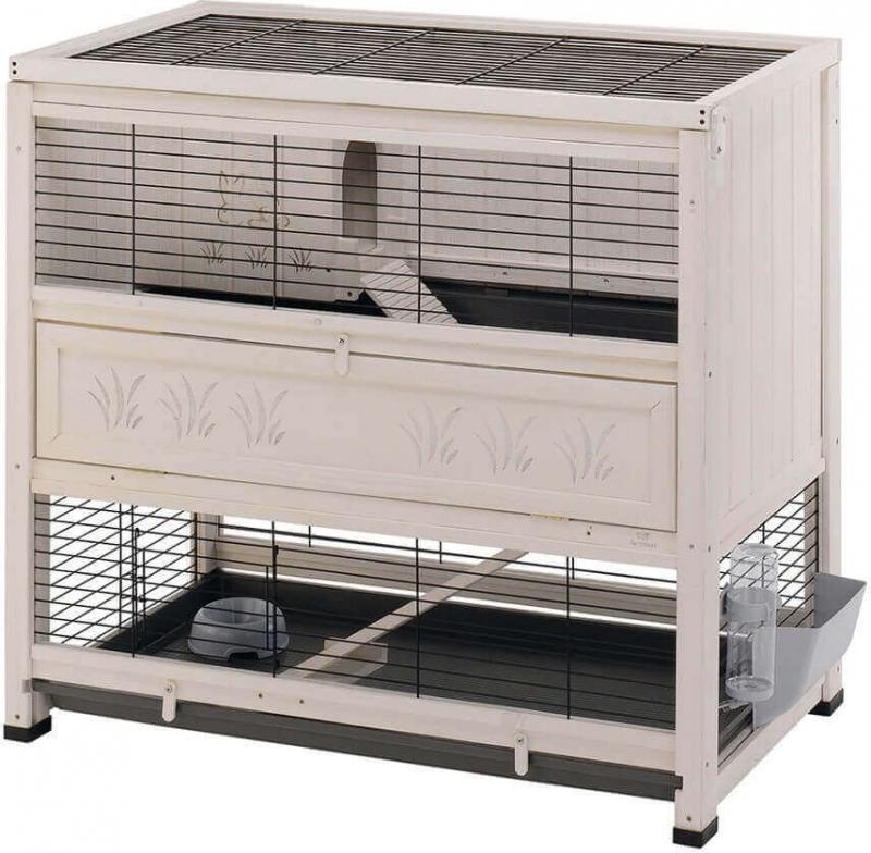 Conejera de interior de madera para roedores Cottage