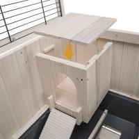 Clapier d'intérieur en bois Cottage pour rongeurs (4)