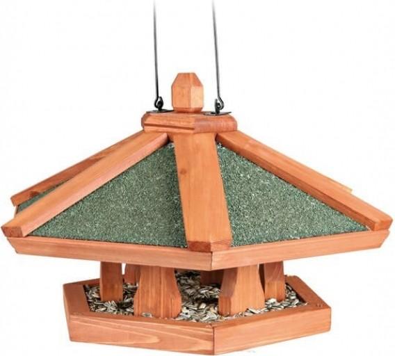 mangeoire oiseau en bois suspendue natura. Black Bedroom Furniture Sets. Home Design Ideas