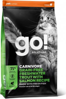 PETCUREAN GO! Carnivore sans Céréales à la Truite pour Chat et chaton