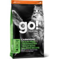 PETCUREAN GO! Carnivor Getreidefreies Trockenfutter mit Forelle für Katze und Kätzchen