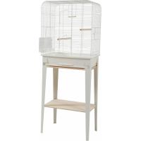 Cage oiseaux avec son meuble Chic Loft - Blanc - 3 tailles disponibles