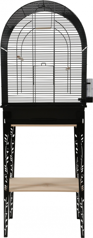 Cage oiseaux avec son meuble Chic Patio Noir - 3 tailles disponibles