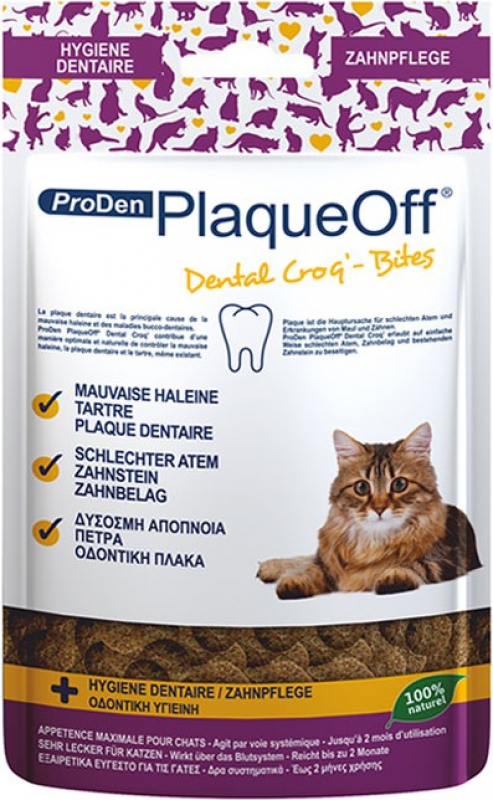 PlaqueOff ProDen Dental Croq' Small pour chat