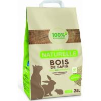 Litière Perlinette Bois de sapin pour chat, lapin, rongeur et cobaye