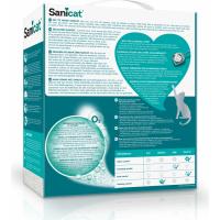 Litière Sanicat ultra agglomérante blanche 6L oxygène lotus