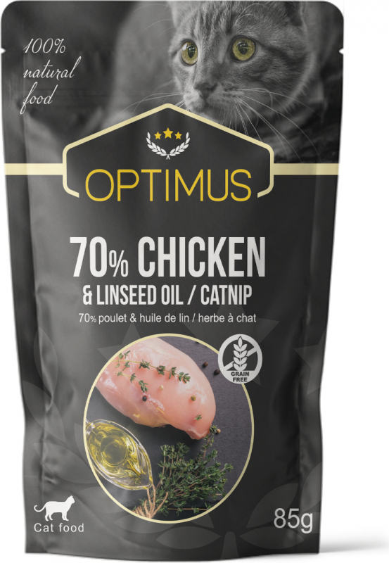 OPTIMUS Comida húmeda para gatos - 4 recetas