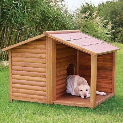 Niche pour chien avec terrasse Lodge Natura