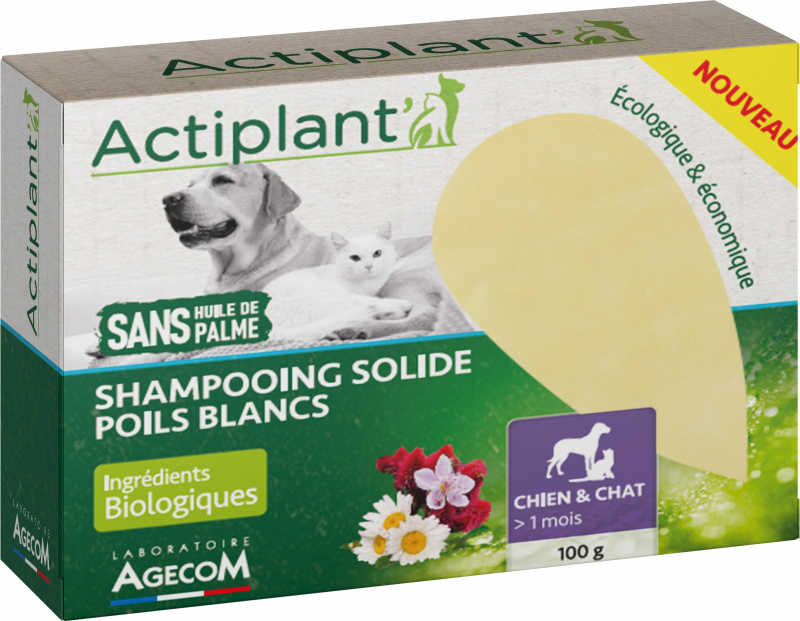 Shampoing Solide Poils Blancs