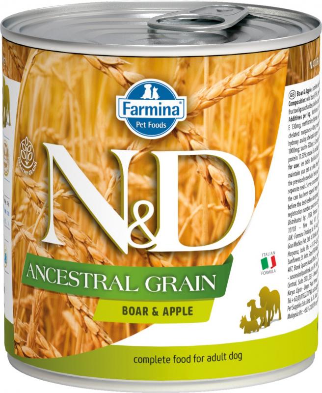 FARMINA N&D Ancestral Grain Sanglier & Pomme pour chien
