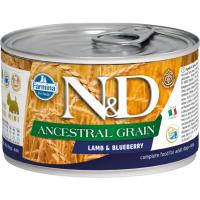 FARMINA N&D Ancestral Grain Agneau & Myrtille pour chien