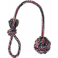 Jouet corde avec balle pour chien ø 7 cm