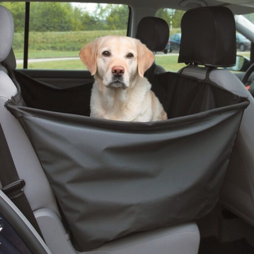 prot ge si ge de voiture nylon noir transport du chien en voiture. Black Bedroom Furniture Sets. Home Design Ideas