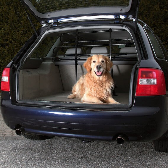 Grille de s paration pour coffre de voiture trixie - Grille de separation pour chien ...