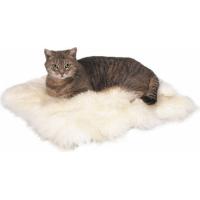 Coussin pour chat peau de mouton