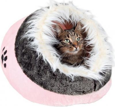 Niche pour chat douillet Minou rose