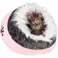 Abri pour chat douillet Minou rose