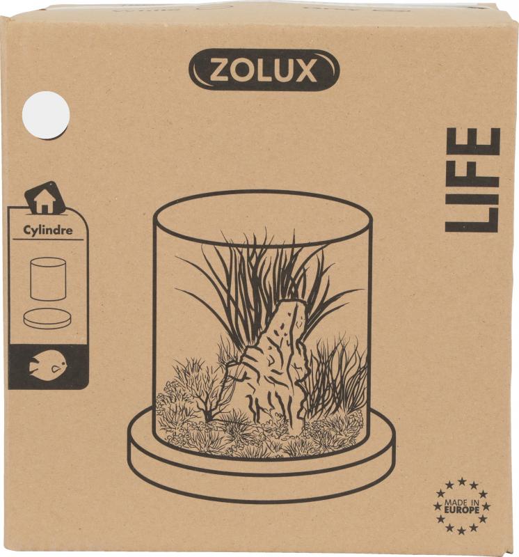 Aquarium, terrarium cylindre Life 12L