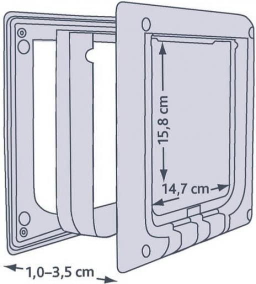 Chatière électromagnétique 4 positions avec aimant pour collier