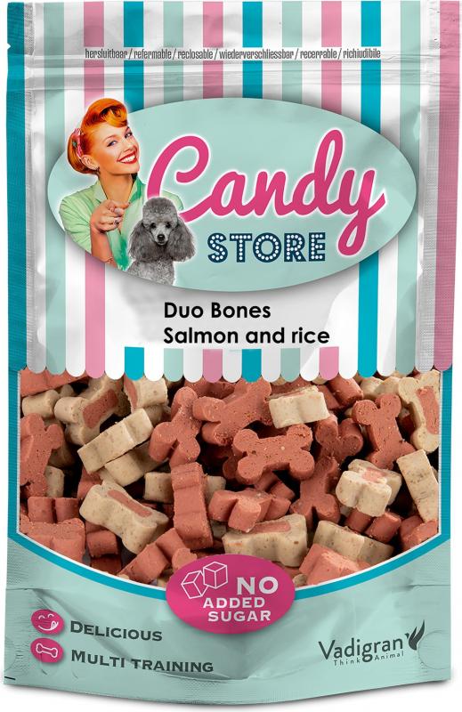Friandise chien candy duo mélange saumon & riz