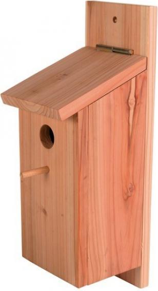 Ninho de parede de madeira para aves do céu