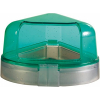 Toilette d'angle pour rongeurs avec toit
