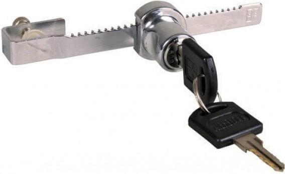 Serrure pour porte glissante de terrarium avec clé
