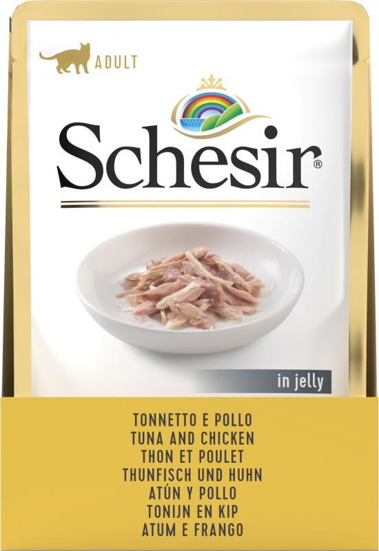 Schesir Sachet fraîcheur pâtée en gelée pour chat adulte et chaton - diverses saveurs