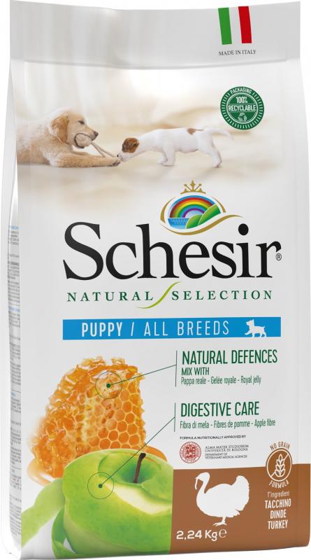 Schesir Natural Selection Chiot Dinde No Grain