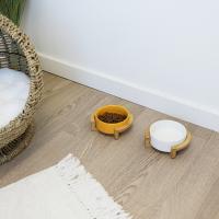 Gamelle en céramique avec support bambou Zolia Chuky