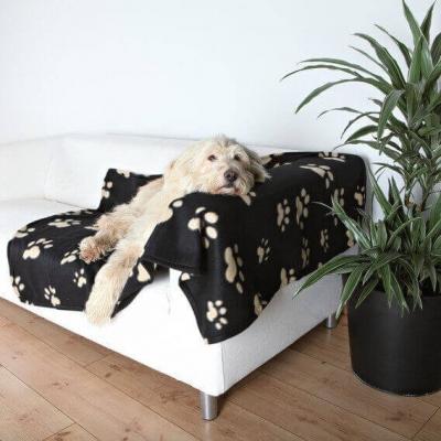 Couverture motif patte de chien