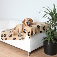 Couverture motif patte de chien, 150cm