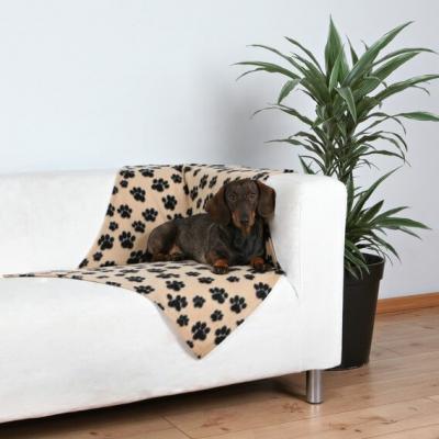 Manta para sofá reversible con diseño de patas de perro