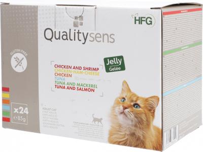 QUALITY SENS HFG Multipack Jelly Pâtées en gelée 100% Naturelles pour Chat & Chaton
