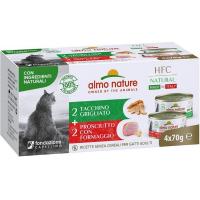 ALMO NATURE Multipack HFC Natural pour chat 4 x 70gr - plusieurs saveurs disponibles