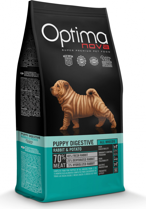OPTIMANOVA Puppy & Junior, lapin et pommes de terre