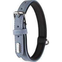 Halsband DELU voering van imitatieleer en neopreen - blauw