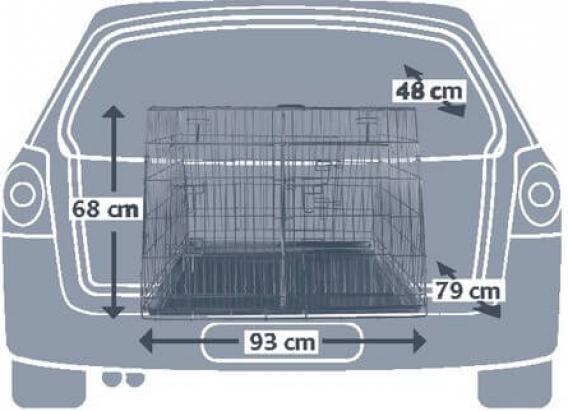 Double Pour Coffre Voiture Cage De Galvanisée Transport 08OknXZNwP