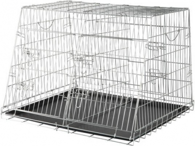 Metal Crate, Galvanized, Double