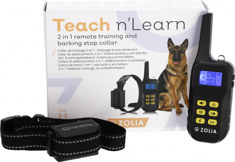 Zolia Teach 'n Learn Erziehung und Anti-Bell Halsband