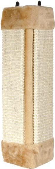 Griffoir d'angle sisal et peluche beige ou brun
