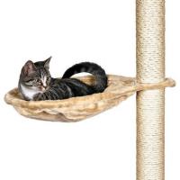 Nido hamaca para poste rascador de gatos, beige   (1)