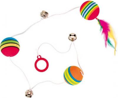 Rainbow-Bälle am Gummiband, Schaumstoff
