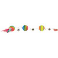 Balles arc en ciel sur bande élastique