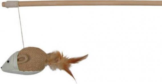 Canne à pêche avec souris squeaky