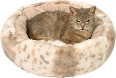 Panier douillet style léopard Leika pour chat