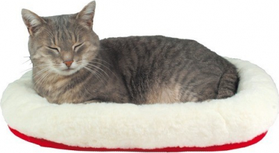 Coussin pour chat douillet et réversible