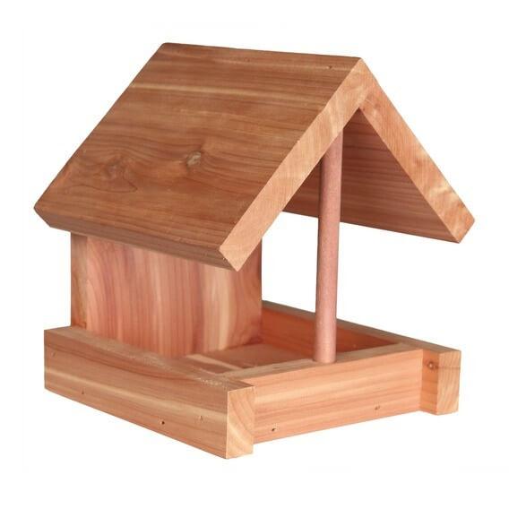 mangeoire pour oiseaux du ciel en bois de c dre mangeoire et nichoir oiseaux. Black Bedroom Furniture Sets. Home Design Ideas